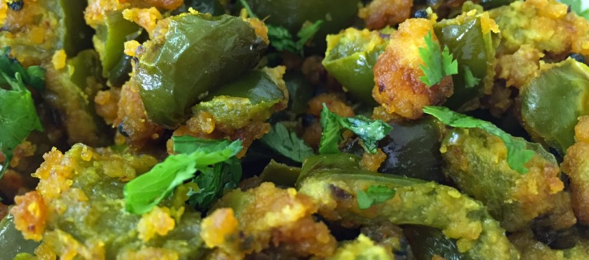Besan-Coated Capsicum Recipe